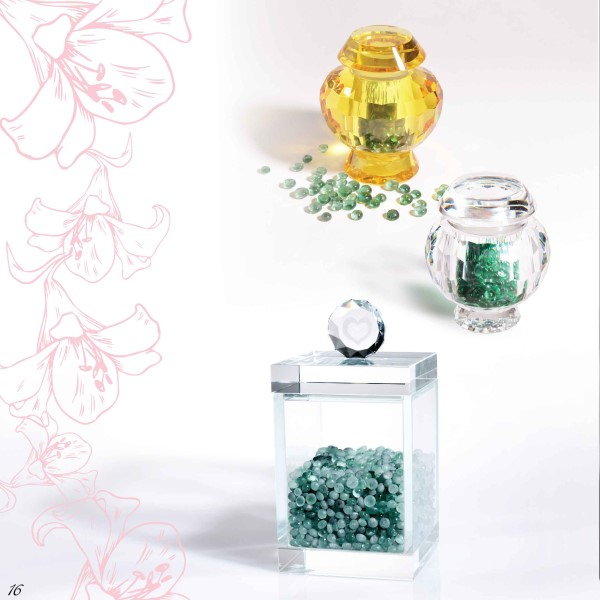Eternity Gem Stone in crystal jars