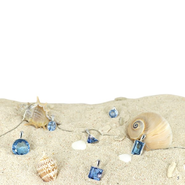 Ocean sapphire and shells